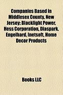 Companies Based in Middlesex County, New Jersey: Blacklight Power, Hess Corporation, Diaspark, Engelhard, Inetsoft, Home Decor Products