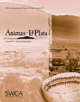 Animas-La Plata Project, Volume XVI: Final Synthetic Report - Potter, James M.