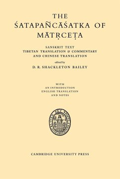 The Satapancasatka of Matrceta - Shackleton Bailey, D. R.