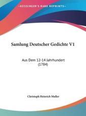 Samlung Deutscher Gedichte V1 - Christoph Heinrich Muller