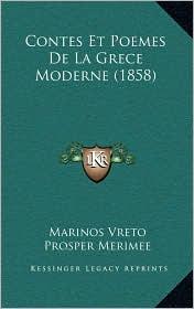 Contes Et Poemes De La Grece Moderne (1858) - Marinos Vreto, Prosper Merimee (Introduction)