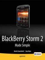 Blackberry Storm2 Made Simple: Written for Storm 9500 and 9530, and the Storm2 9520, 9530, and 9550
