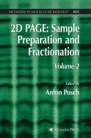 2D Page: Sample Preparation and Fractionation: Volume 2