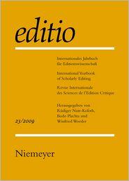 2009 - Rudiger Nutt-Kofoth (Editor), Winfried Woesler (Editor), Bodo Plachta (Editor)