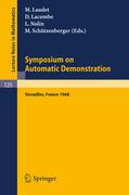 Symposium on Automatic Demonstration