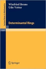 Determinantal Rings - Winfried Bruns, Udo Vetter