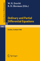 Ordinary and Partial Differential Equations - W. N. Everitt; B. D. Sleeman