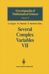 Several Complex Variables VII: Sheaf-Theoretical Methods in Complex Analysis - Grauert, H. / Peternell, T. / Remmert, R.