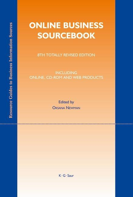 Online Business Sourcebook als eBook von - Gruyter, de Saur