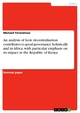 An analysis of how decentralisation contributes to good governance holistically and in Africa, with particular emphasis on its impact in the Republic of Kenya - Michael Ferendinos