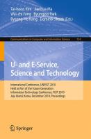 U- and E-Service, Science and Technology