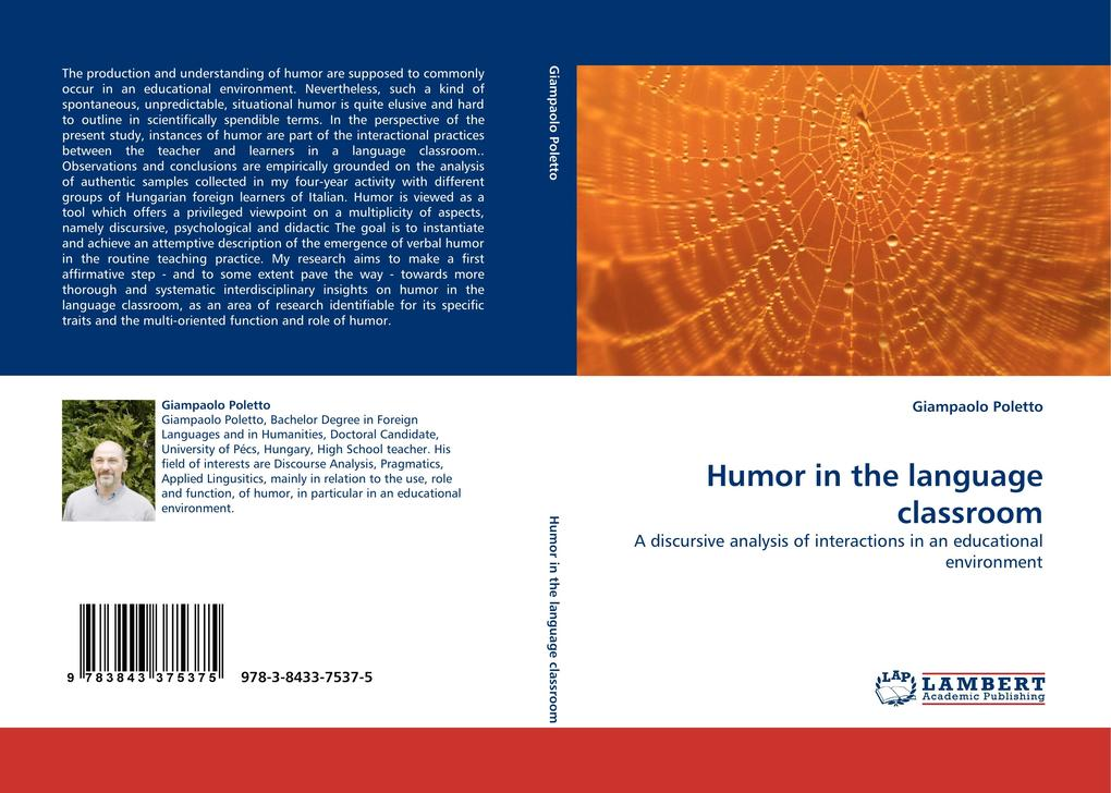 Humor in the language classroom als Buch von Giampaolo Poletto - LAP Lambert Acad. Publ.