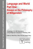 Language and World. Part One. Essays on the Philosophy of Wittgenstein