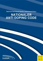 Nationaler Anti DopingCode (NADC 2009) Version 2.0