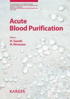 Acute Blood Purification