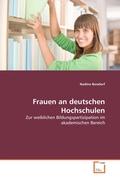 Bondorf, Nadine: Frauen an deutschen Hochschulen