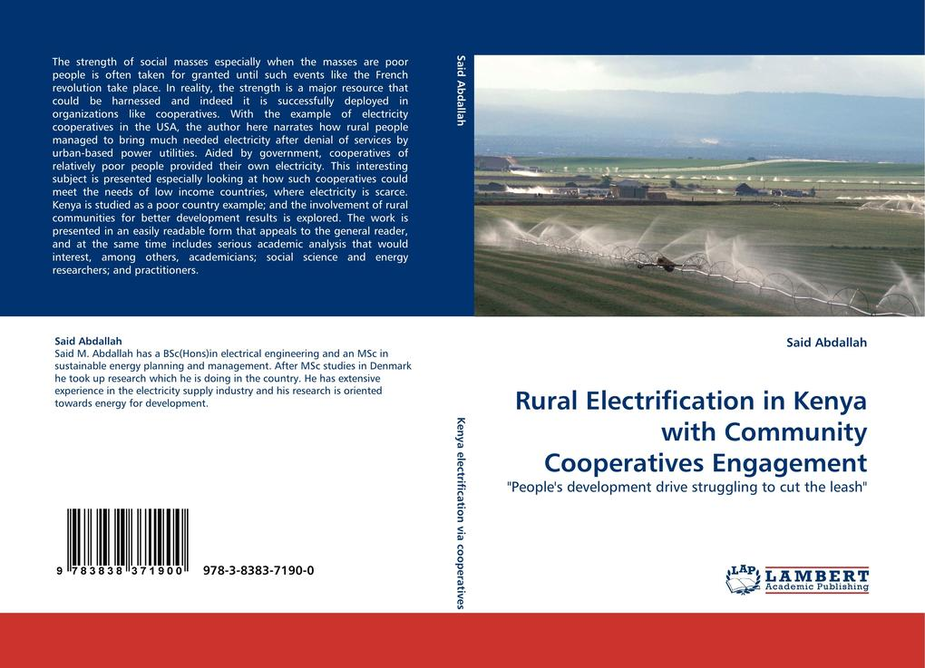 Rural Electrification in Kenya with Community Cooperatives Engagement als Buch von Said Abdallah - LAP Lambert Acad. Publ.
