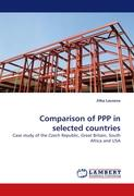 Comparison of PPP in selected countries: Case study of the Czech Republic, Great Britain, South Africa and USA