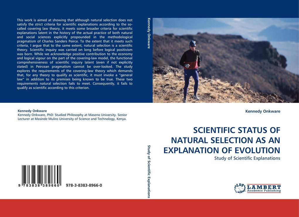 SCIENTIFIC STATUS OF NATURAL SELECTION AS AN EXPLANATION OF EVOLUTION als Buch von Kennedy Onkware - Kennedy Onkware