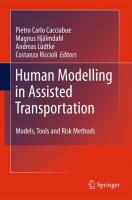 Human Modelling in Assisted Transportation