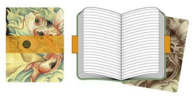 Moleskine Cover Art Carp Fish. Set of 2 Ruled Journals
