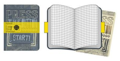 Moleskine Cover Art Start . Set of 2 Squared Journals
