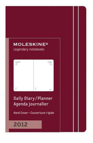 2012 Daily Planner - Extra Small - Dark Red Cover - Moleskine