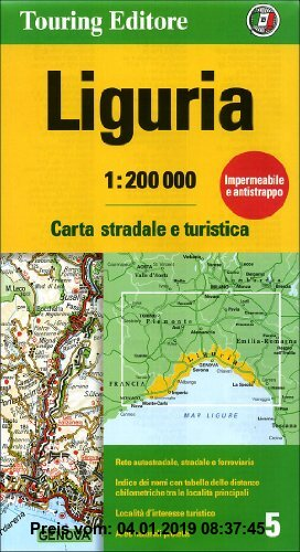 Gebr. - Liguria: TCI.R05 (Regional Road Map)