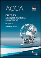 Acca - P4 Advanced Financial Management: Study Text