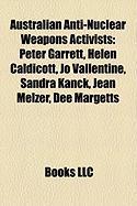 Australian Anti-Nuclear Weapons Activists: Peter Garrett, Helen Caldicott, Jo Vallentine, Sandra Kanck, Jean Melzer, Dee Margetts