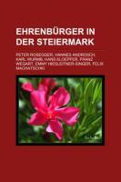 Ehrenbürger in Der Steiermark