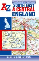 South East and Central England Road Map (Street Atlas)