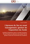 L'épreuve du feu en asset management: gestion de l'exposition du fonds: Synthèse d'expérience dans la société de gestion Dorval Finance en alternance ... l'Université Paris Dauphine (Omn.Univ.Europ.)