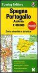 Spagna, Portogallo, Andorra 1:800.000