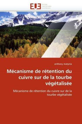 Mécanisme de rétention du cuivre sur de la tourbe végétalisée - Mécanisme de rétention du cuivre sur de la tourbe végétalisée - Matynia, Anthony